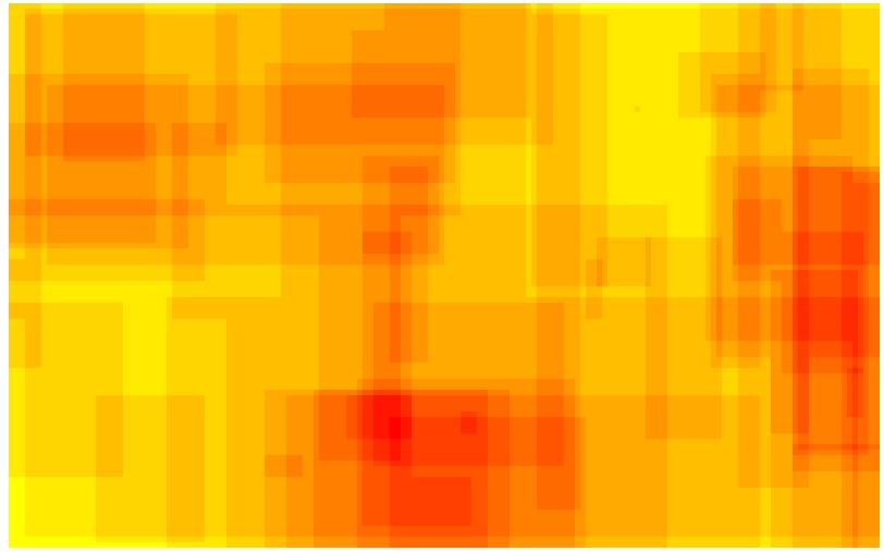 Domäne POLITIK - Heatmap - bildgraphisches Zeichen: Fünfzackiger Stern