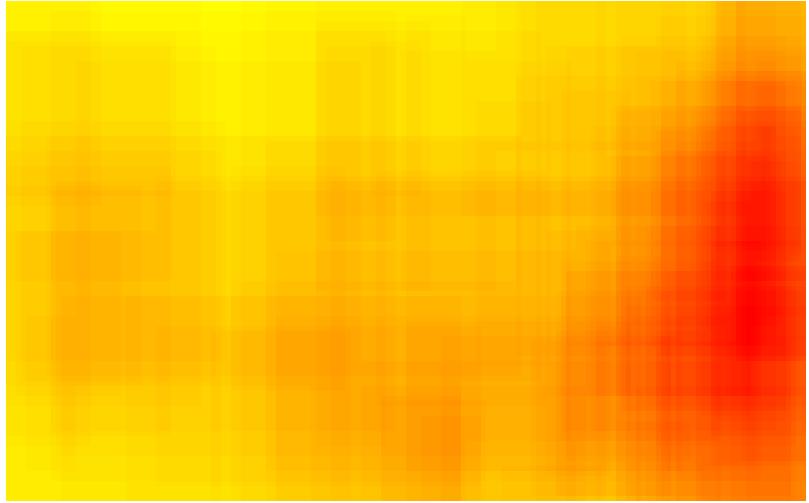 Domäne POLITIK - Heatmap - bildgraphisches Zeichen: Hammer & Sichel