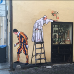 "Street-Art ""Papa gioca a tris"", Rom; Screenshot (???)"