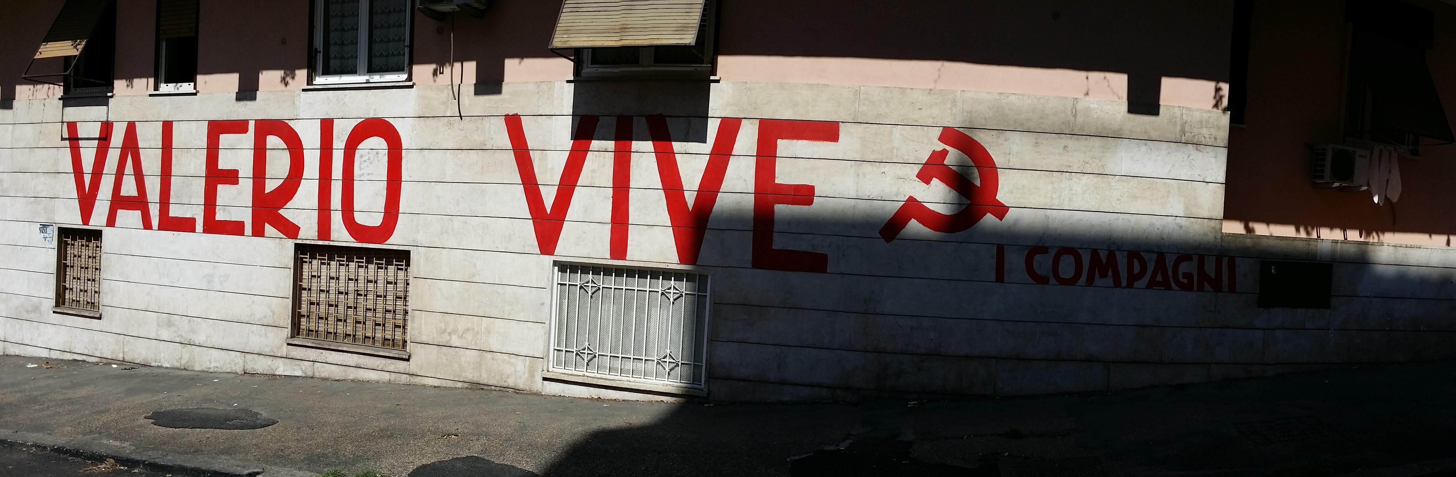 Totenmurales am ehemaligen Wohnort von Valerio Verbano