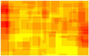 ScriMuRo - Heatmap - bildgraphisches Zeichen: Pfeil